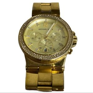 MICHAEL KORS Gold Tone Watch w/ Links